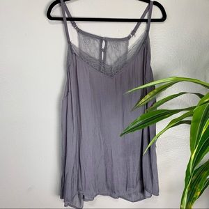 Torrid Muted Lavender Lace Tank Top